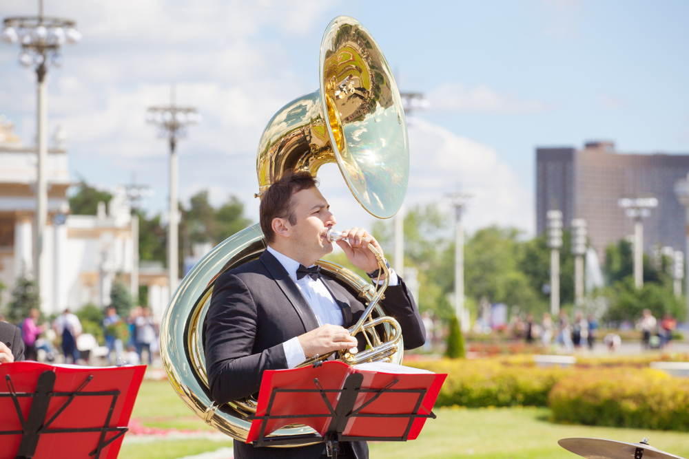 How much does a sousaphone weigh